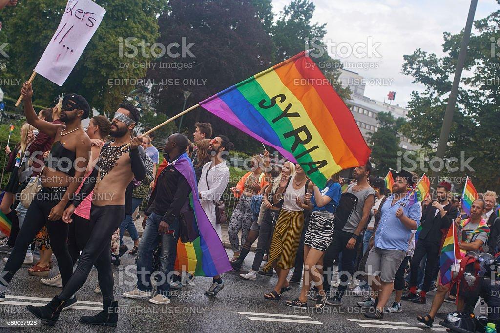 Pride_Malmoe_Syria stock photo