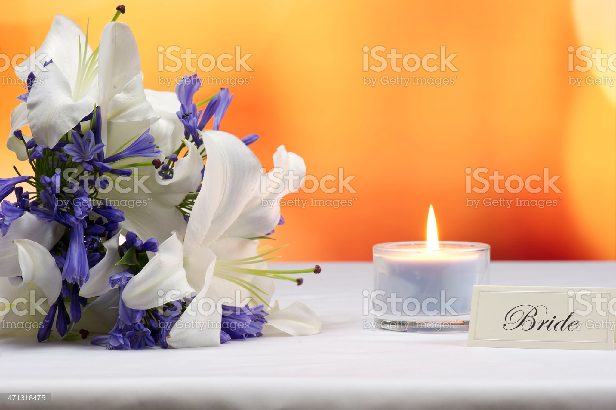 Pride's place at a wedding reception royalty-free stock photo
