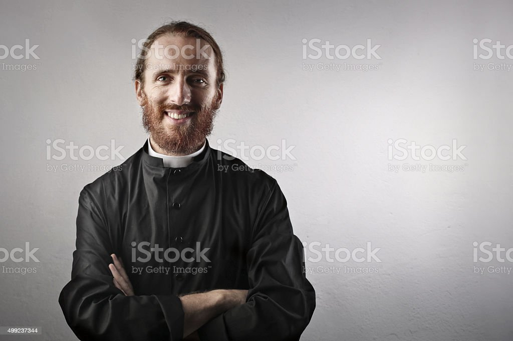 Priest stock photo