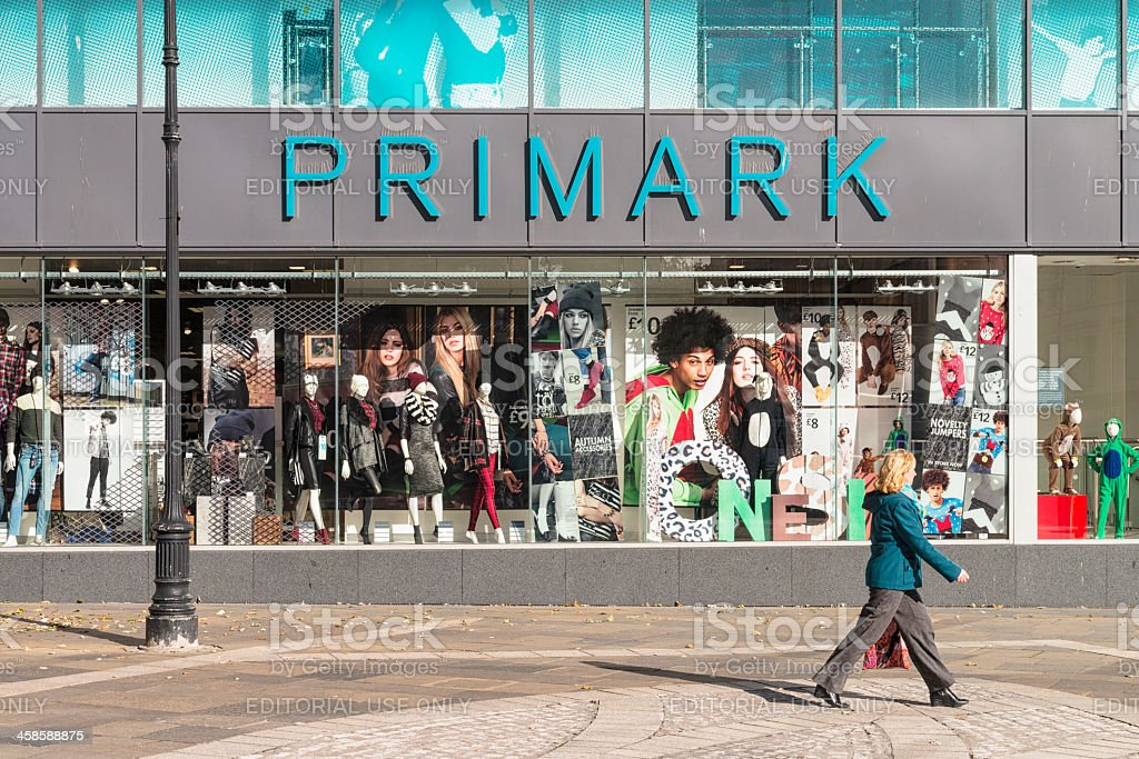 Primark storefront in Dundee stock photo