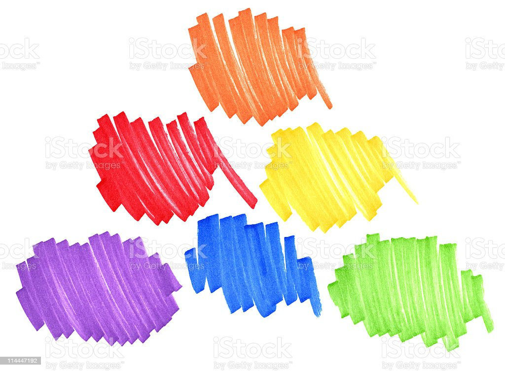 Primary and secondary colors royalty-free stock photo
