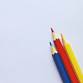 Primary color pencils together
