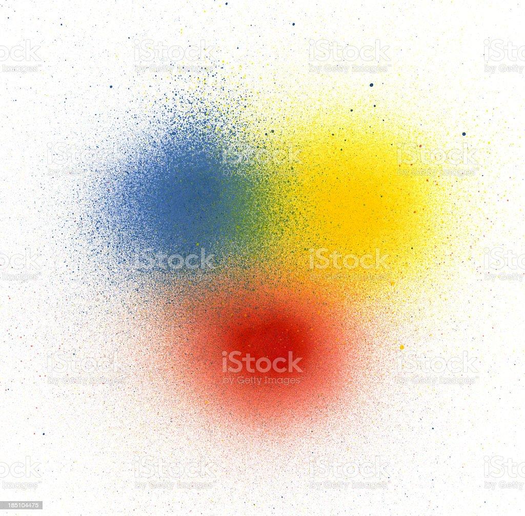 Primary Colors Spray Paint stock photo