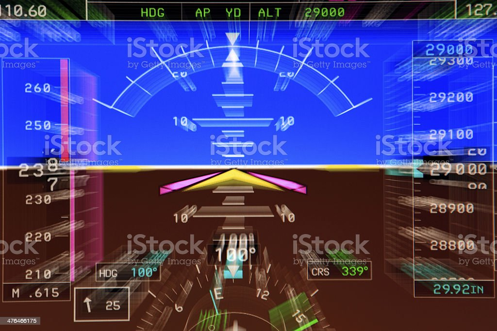 Primary Flight Display stock photo