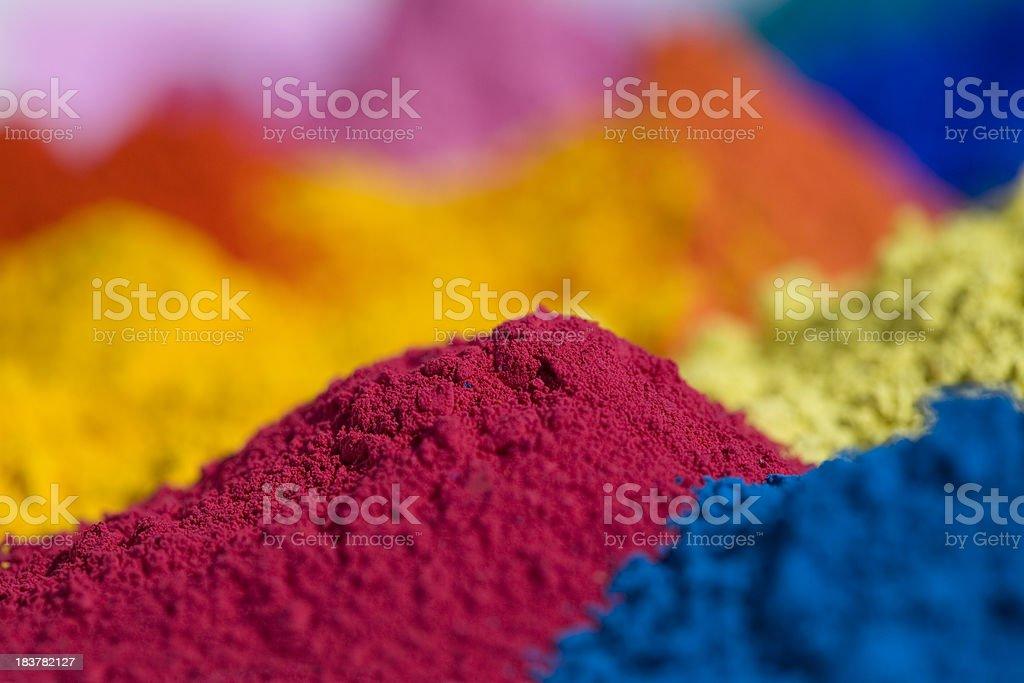 Primary magenta powder pigment. royalty-free stock photo