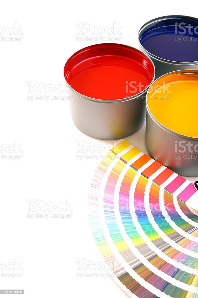 Primary printing colors CMY stock photo