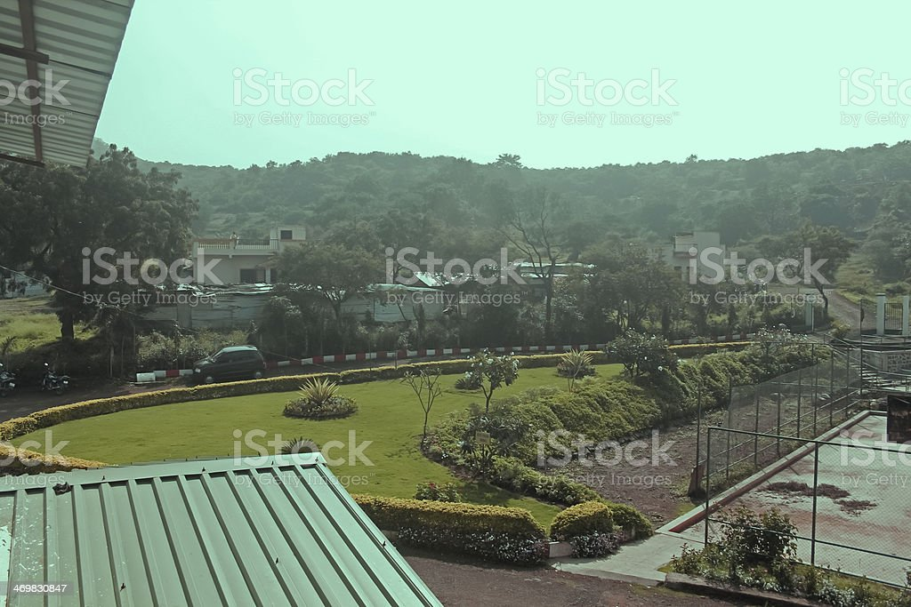 Primary School Campus, Pune, Maharashtra, India stock photo