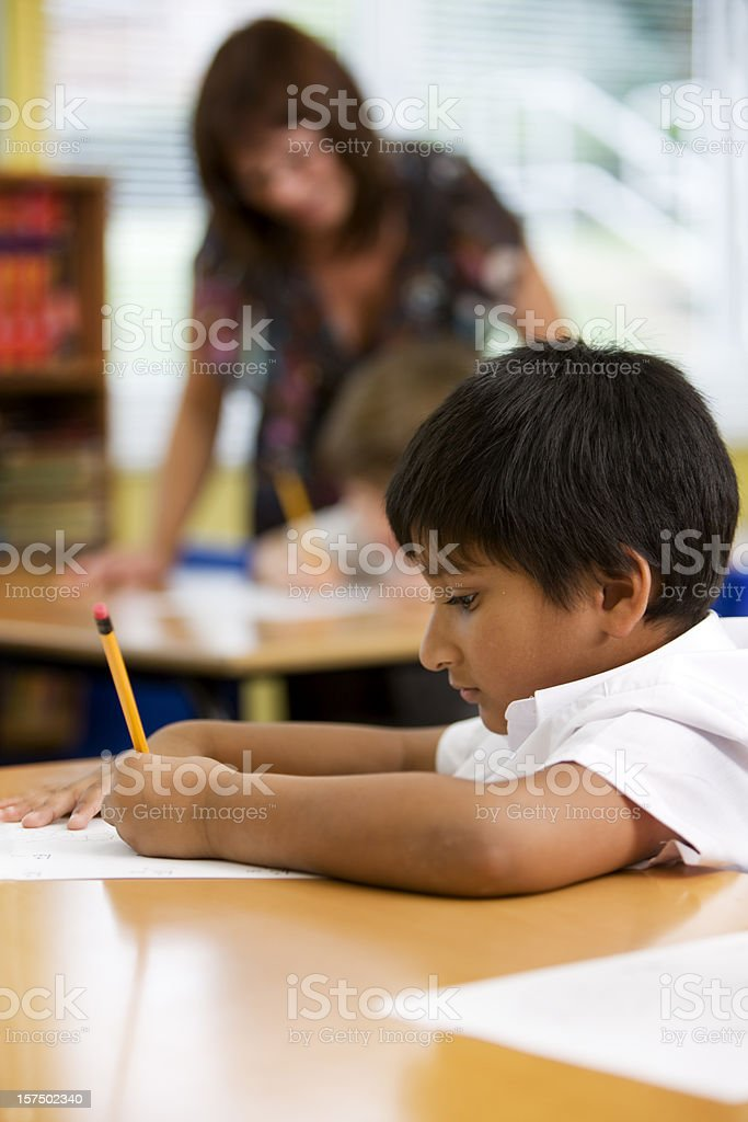 primary school: class concentration royalty-free stock photo