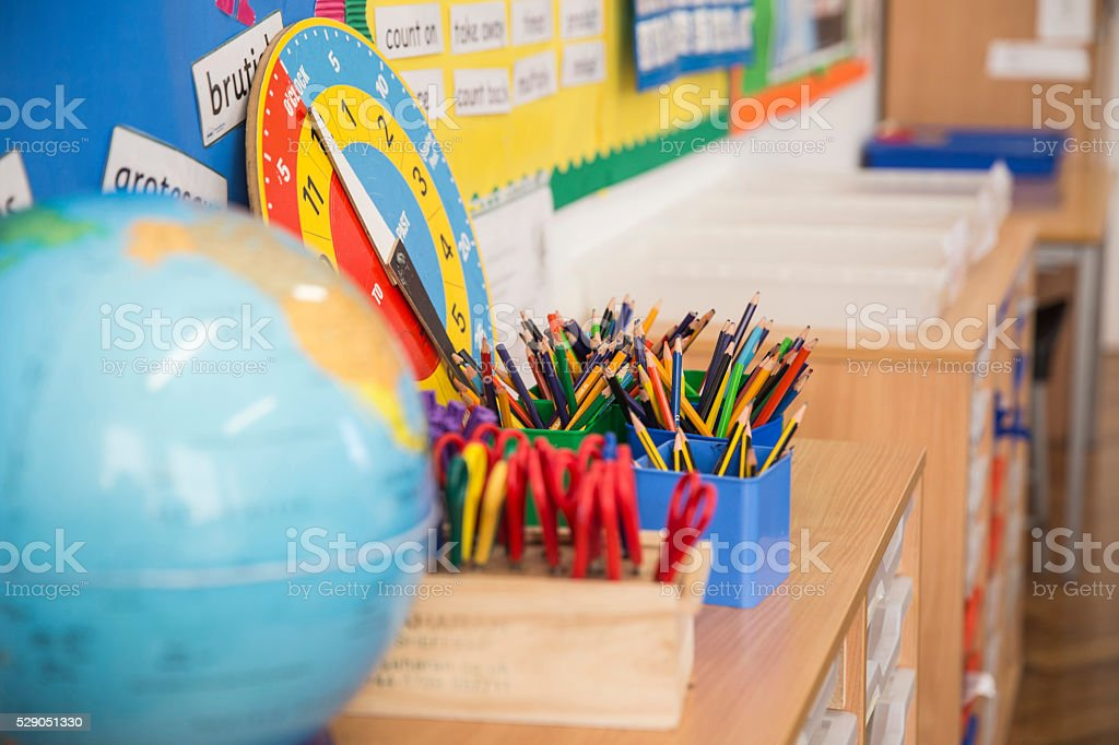 Primary School Class Room. stock photo