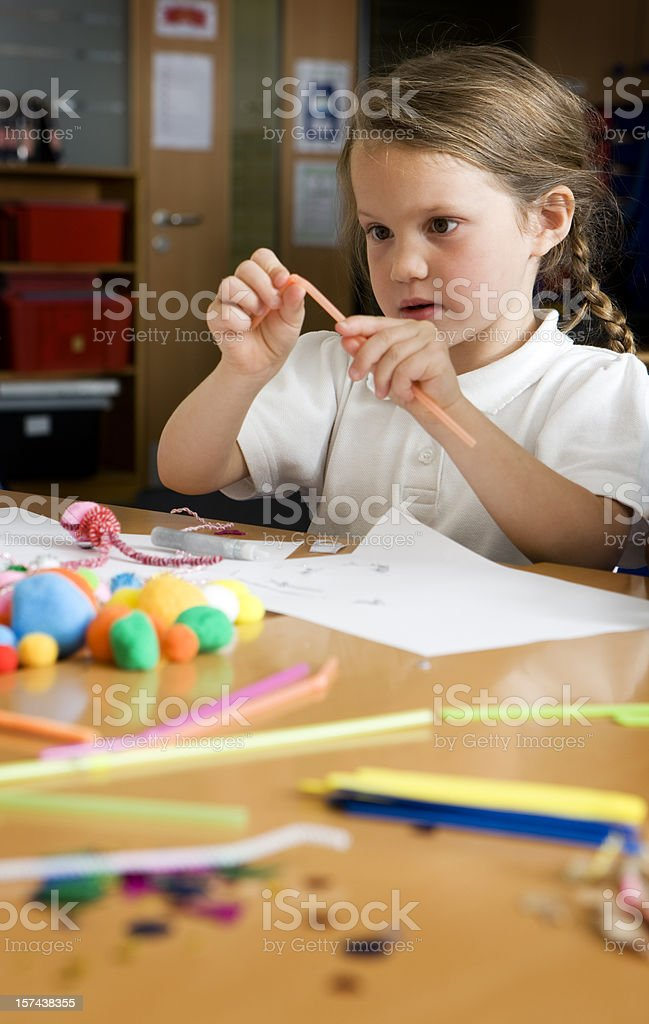 primary school: creative learning royalty-free stock photo