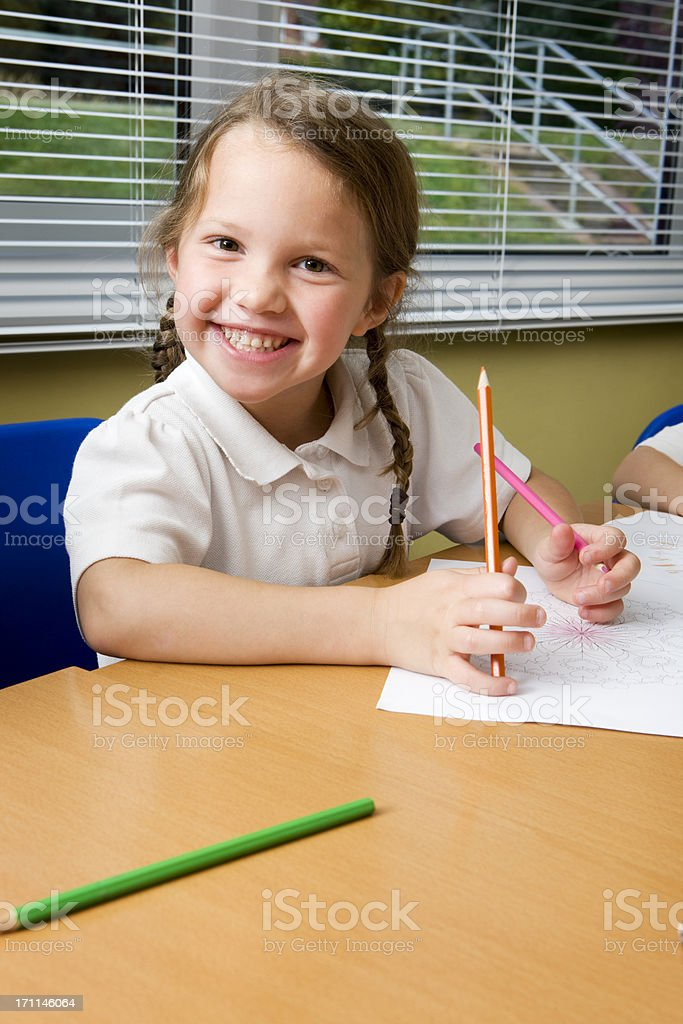 primary school: cute schoolgirl smile royalty-free stock photo