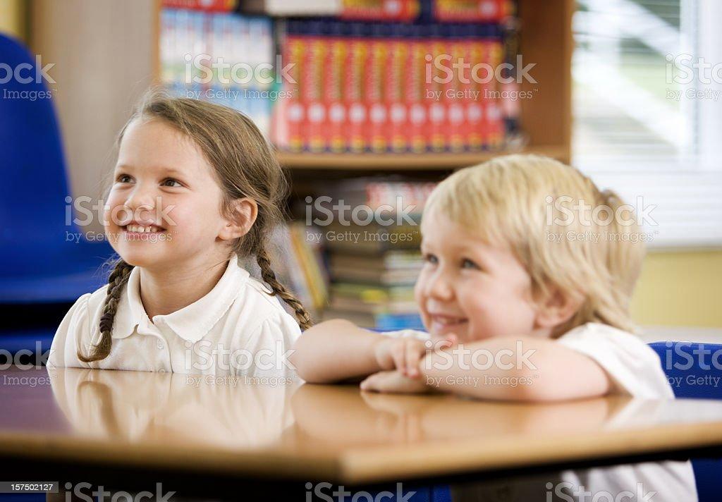 primary school: happy pupils royalty-free stock photo