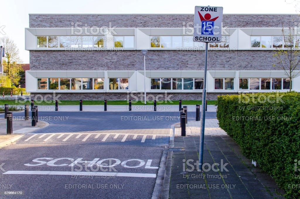 Primary school in Amersfoort stock photo