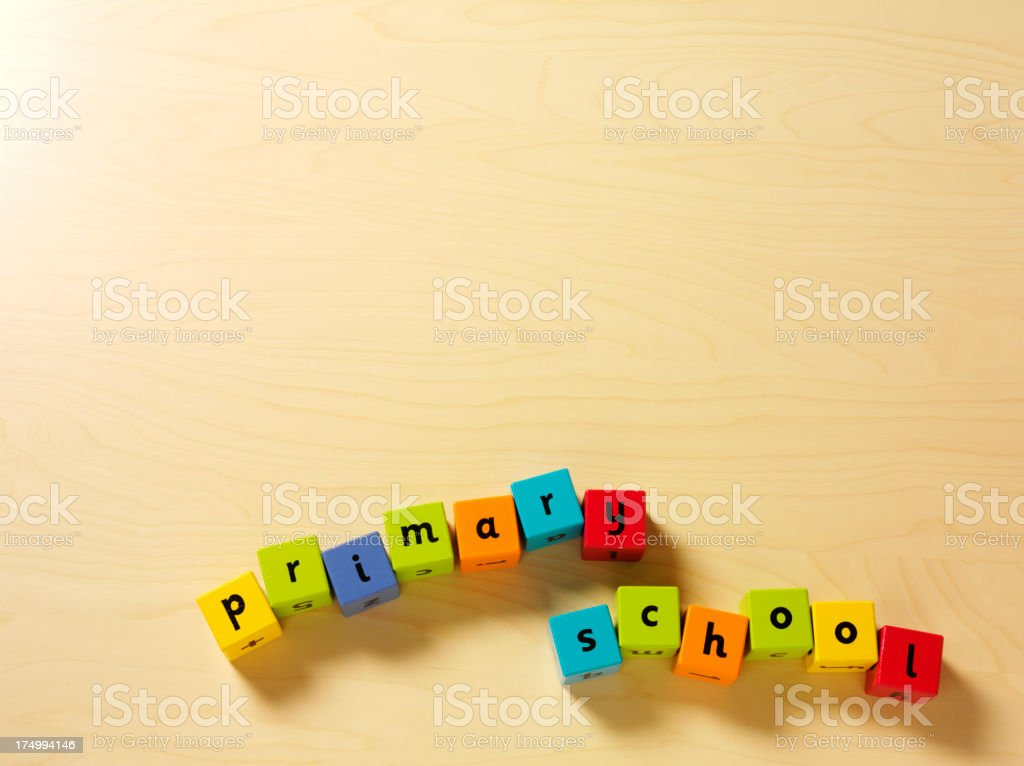 Primary School in Building Blocks royalty-free stock photo