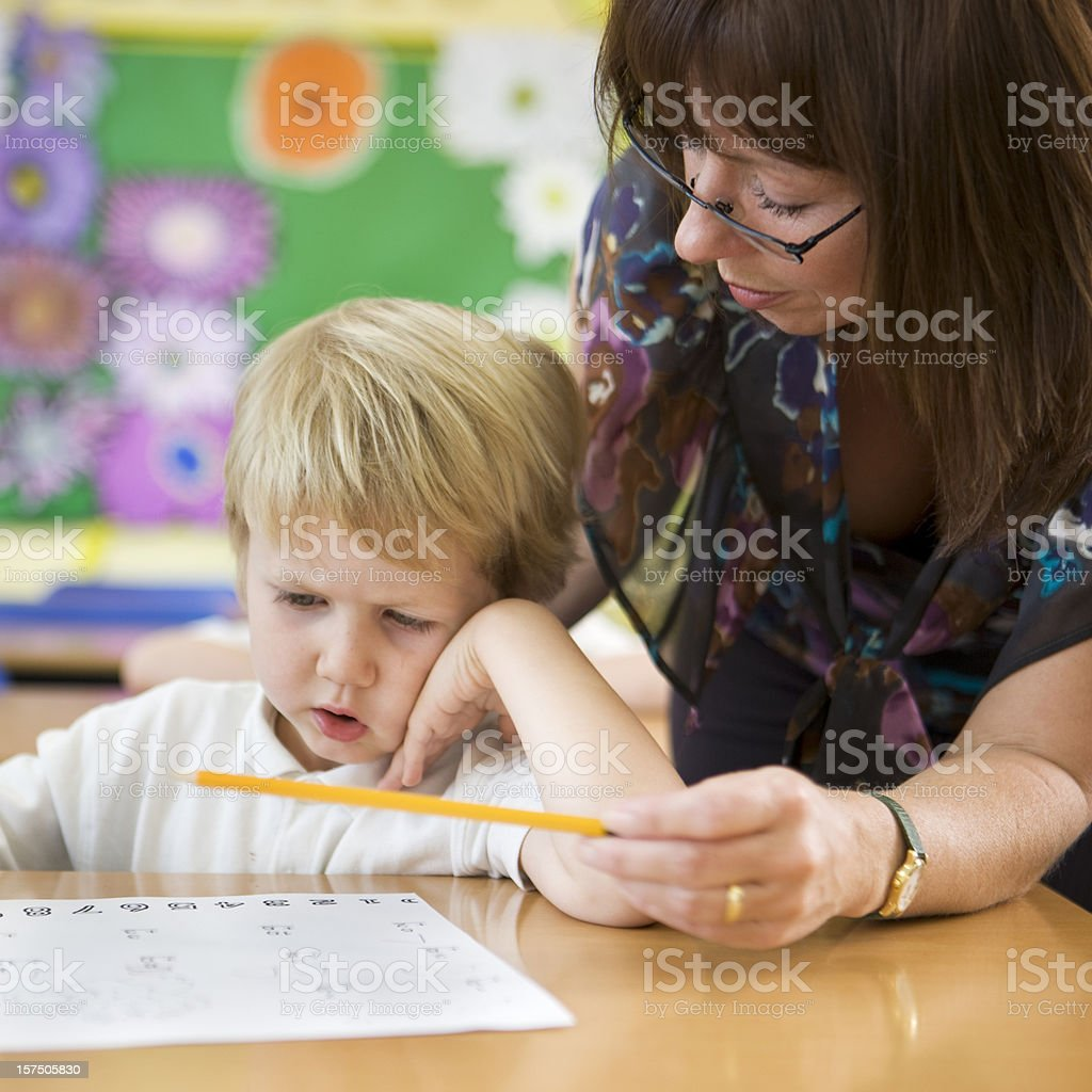 primary school: learning difficulties stock photo