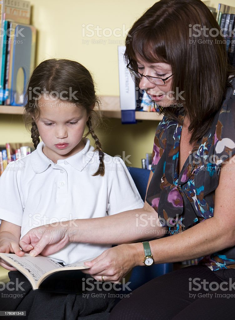 primary school: learning to read royalty-free stock photo