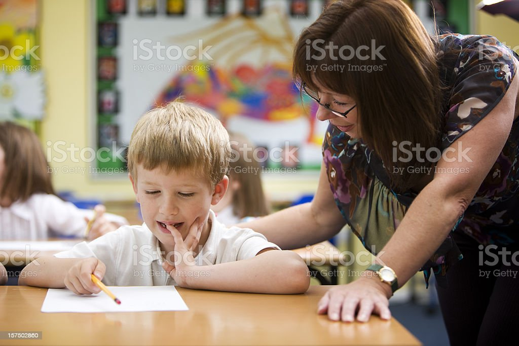 primary school: understanding maths royalty-free stock photo