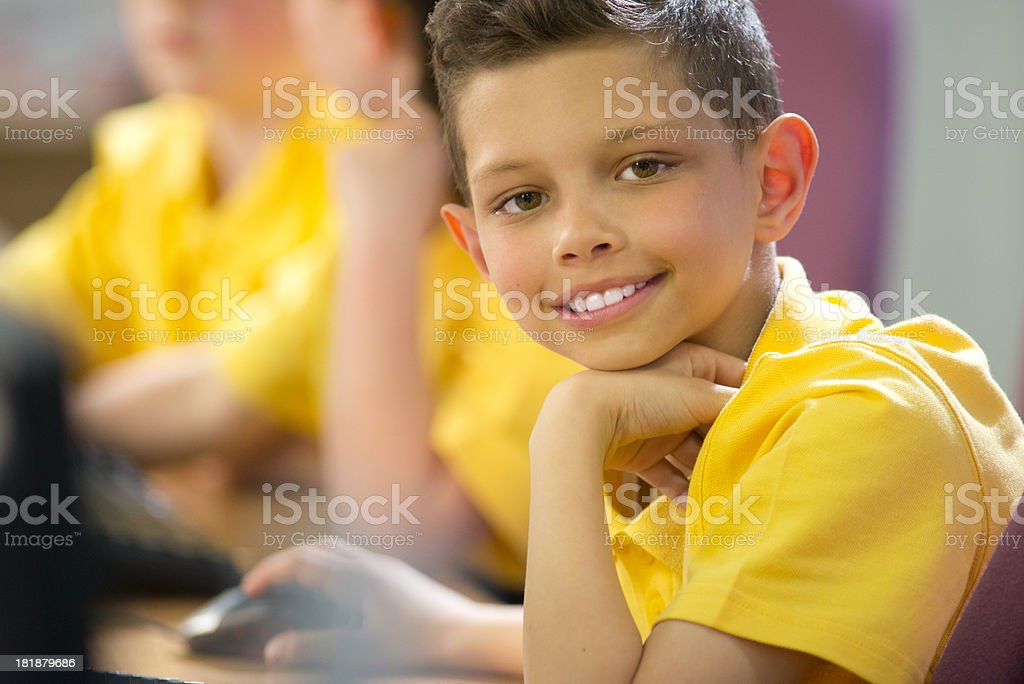 primary schoolchild royalty-free stock photo