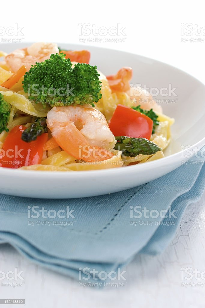 Primavera with Shrimp royalty-free stock photo