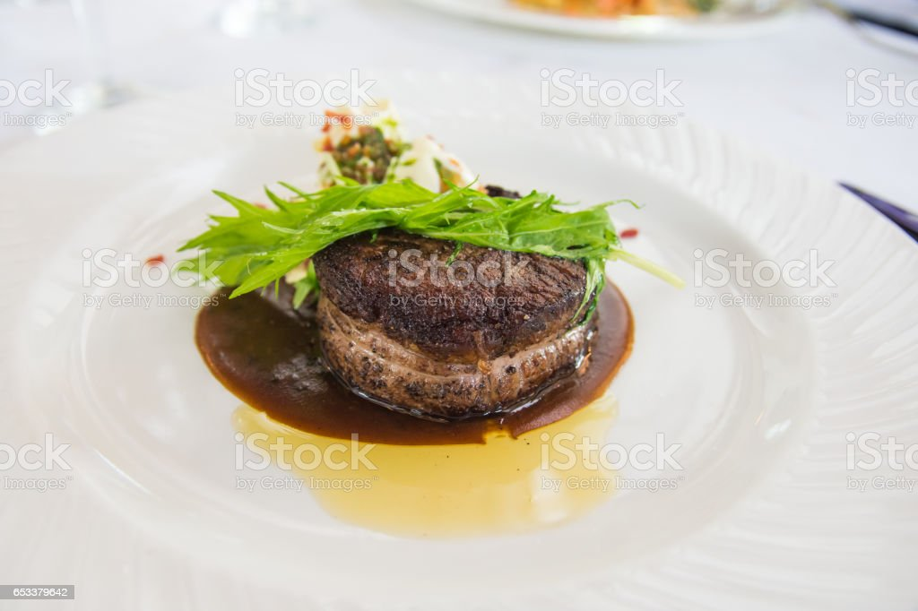 prime angus beef filet mignon stock photo