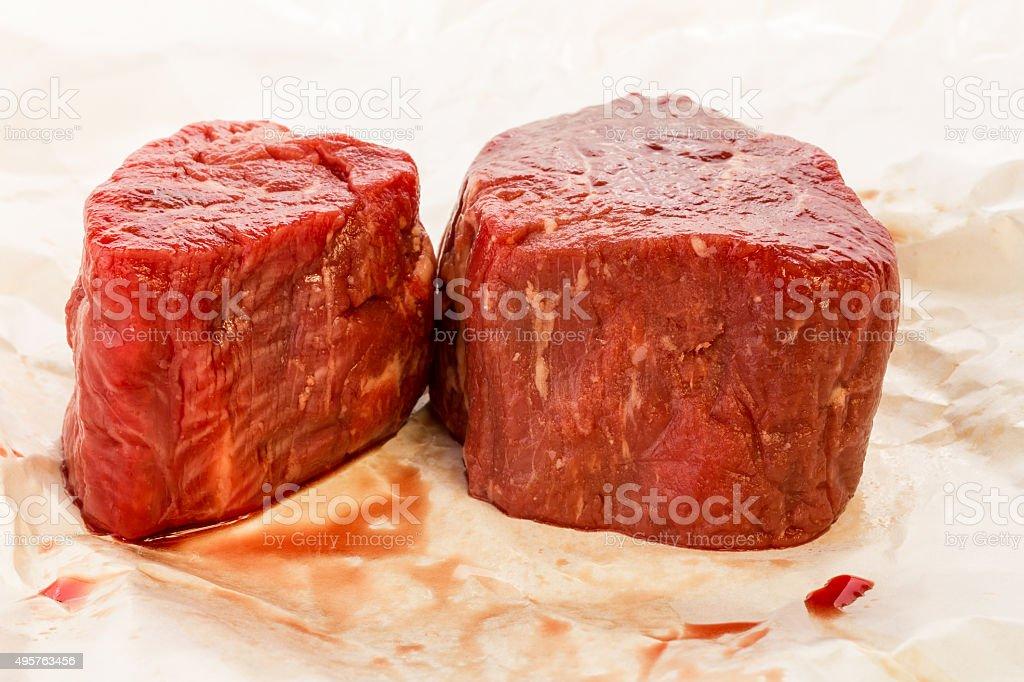 Prime Cut Filet on Butcher Paper stock photo