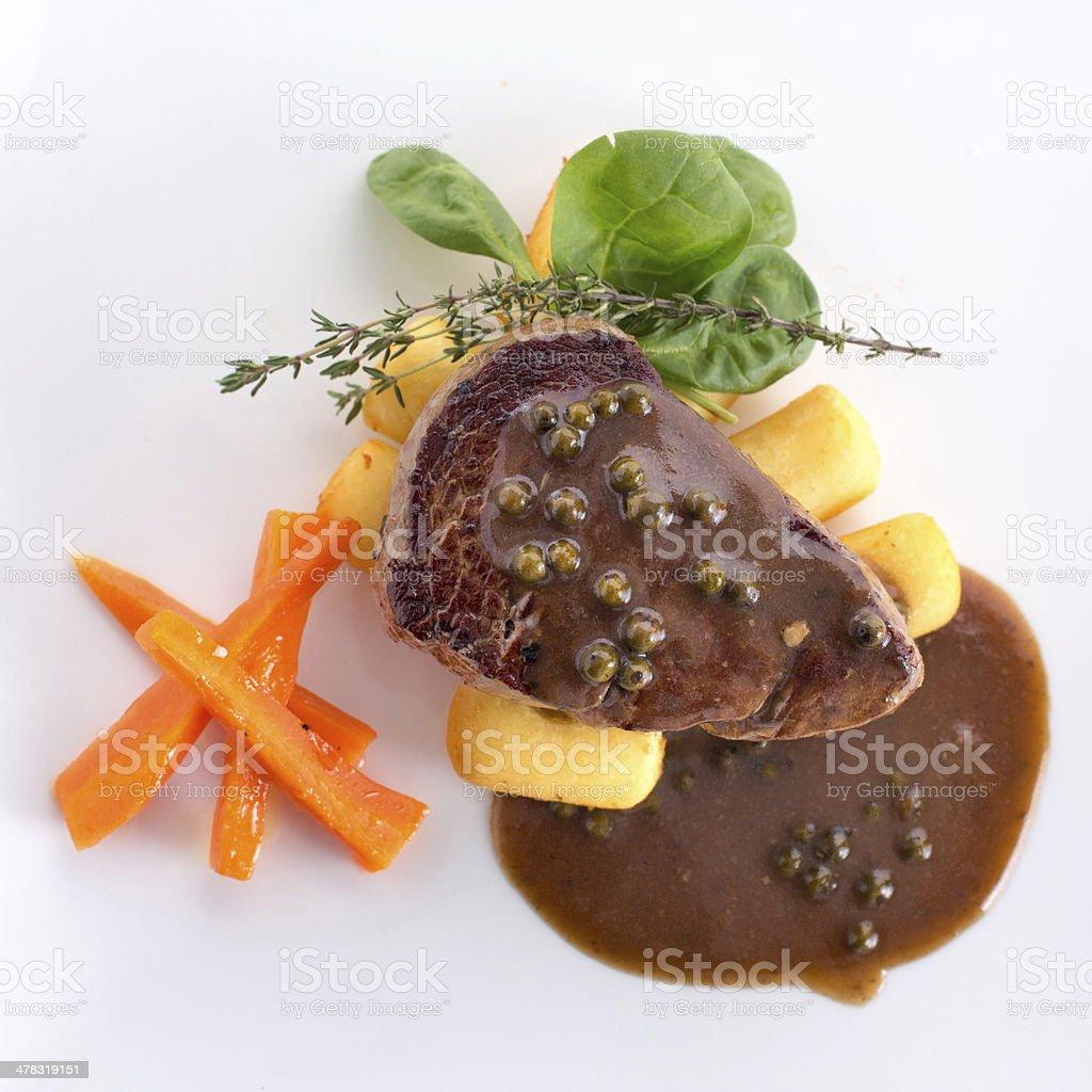 Prime Filet Mignon Steak royalty-free stock photo
