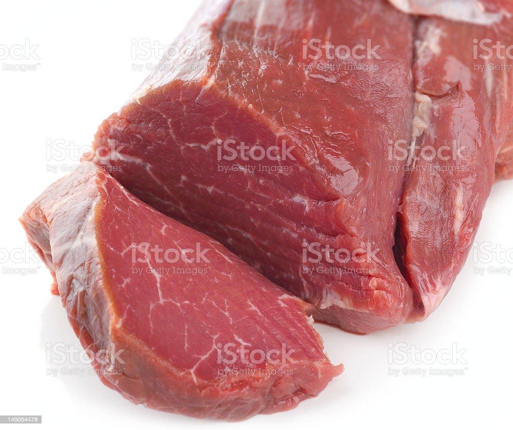 Prime lean fillet steak stock photo