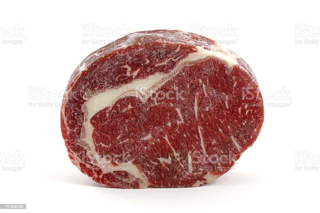 Prime rib eye steak isolated on a white royalty-free stock photo