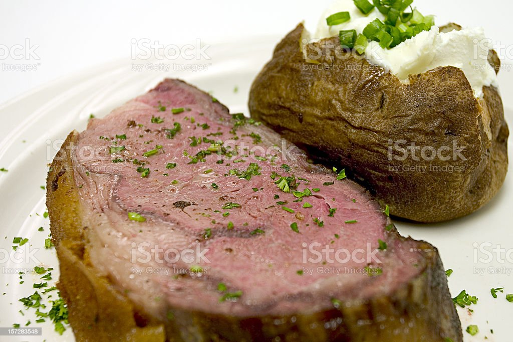 Prime Rib of Beef royalty-free stock photo