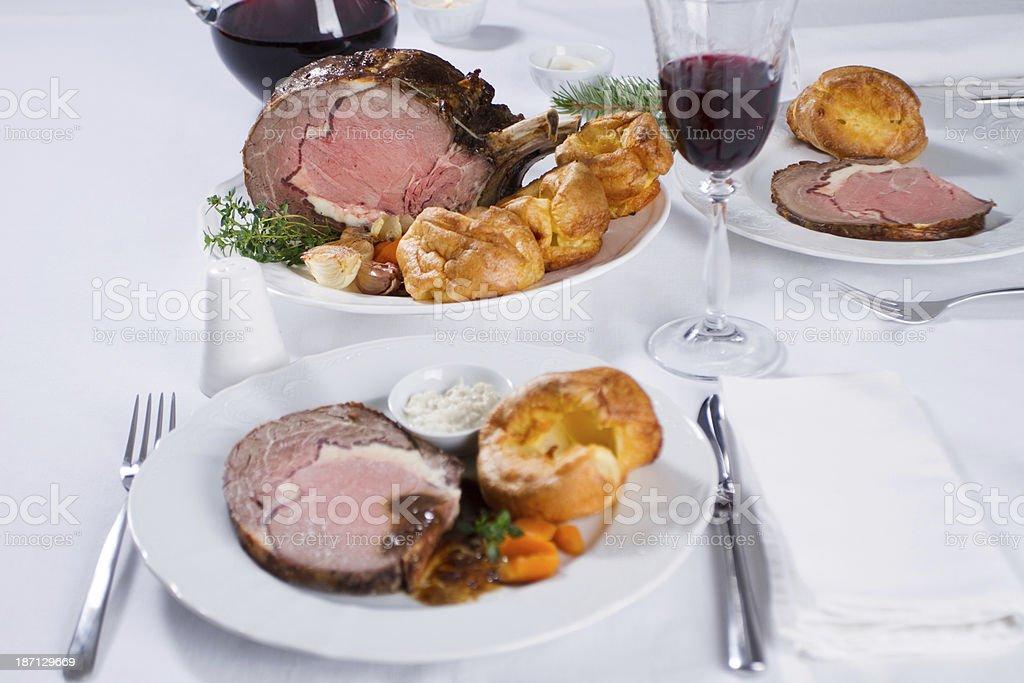 Prime rib roast royalty-free stock photo