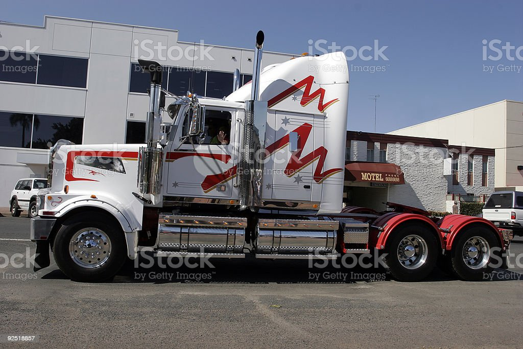 Prime White Stripe stock photo