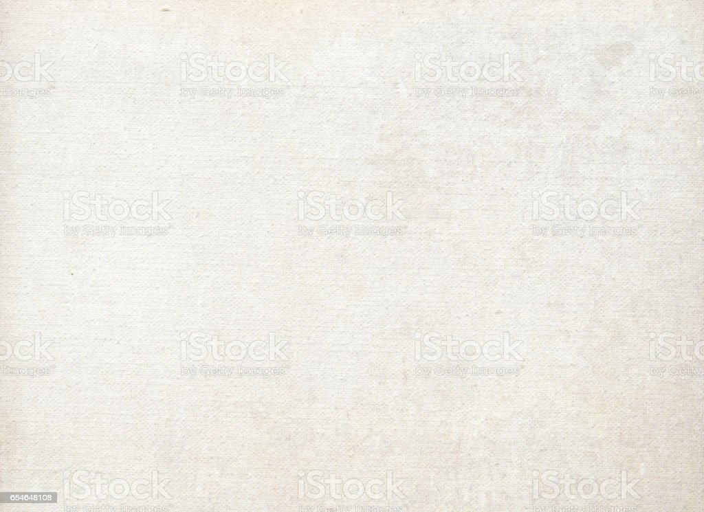 Primed canvas texture. stock photo
