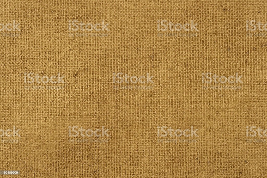 Primed linen canvas  with brown glazing royalty-free stock photo