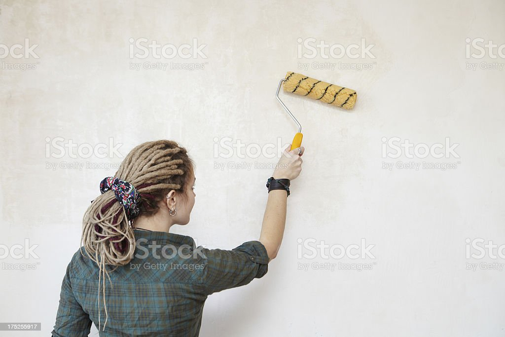 Priming the wall. royalty-free stock photo