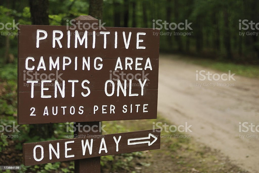 Primitive camping area royalty-free stock photo