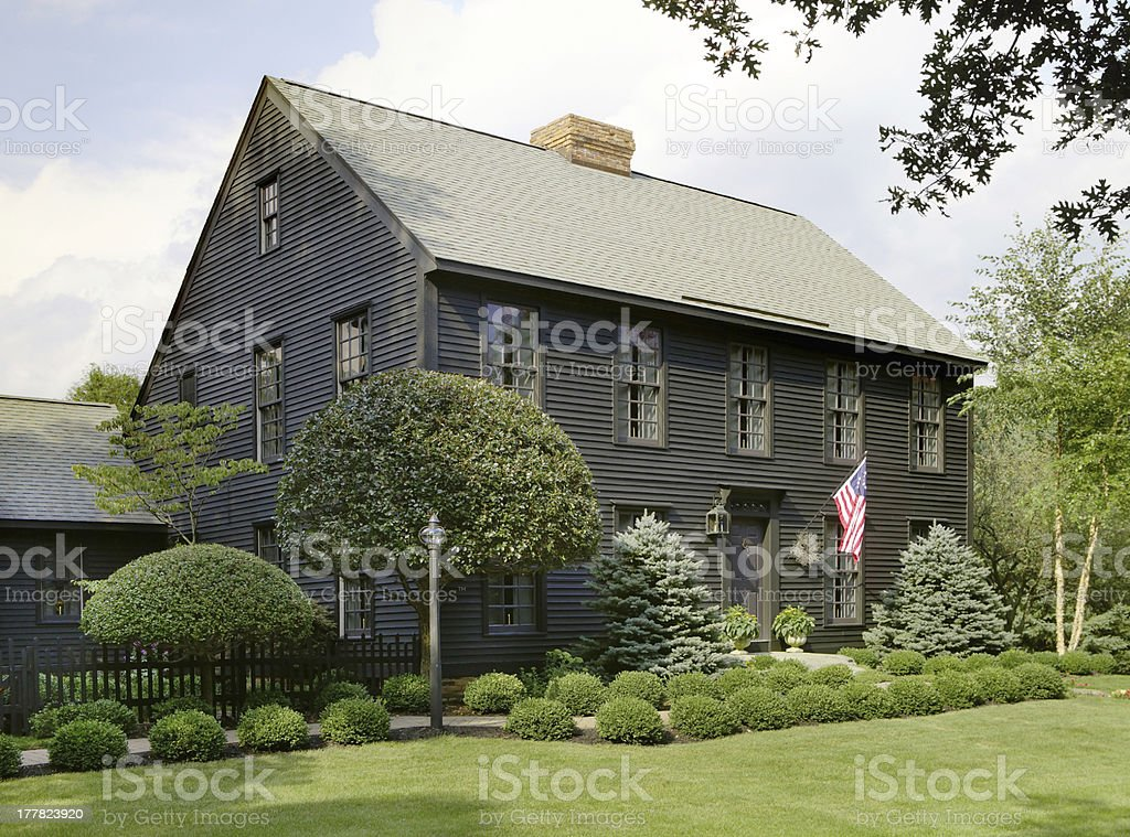 Primitive Colonial Home royalty-free stock photo