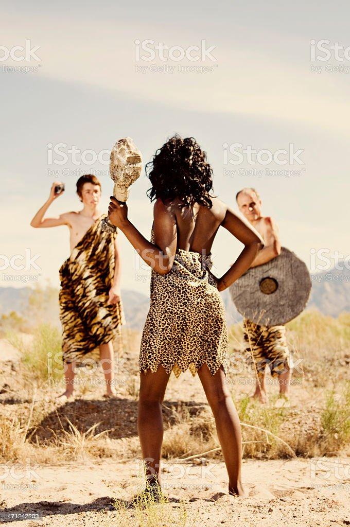 Primitive People stock photo