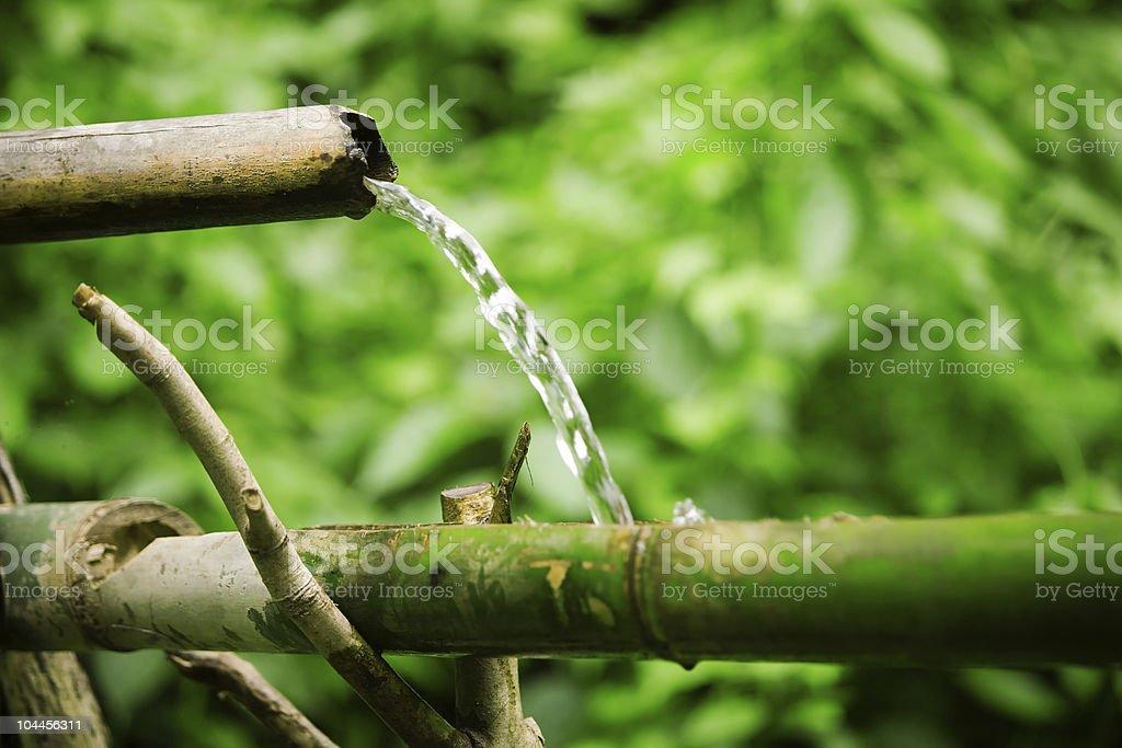 Primitive plumbing stock photo