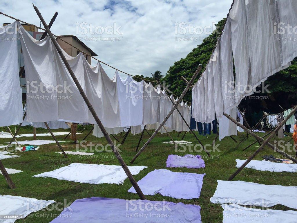 Primitive washing Primitive washing stock photo