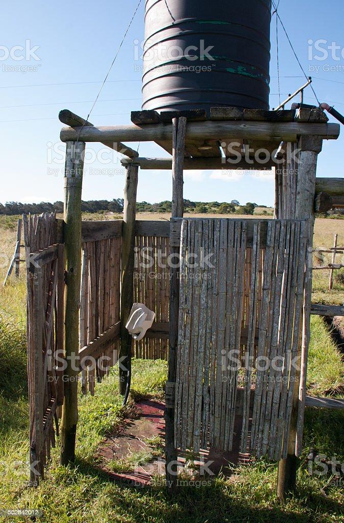 "Primitive Xhosa Village ""Facility"" stock photo"