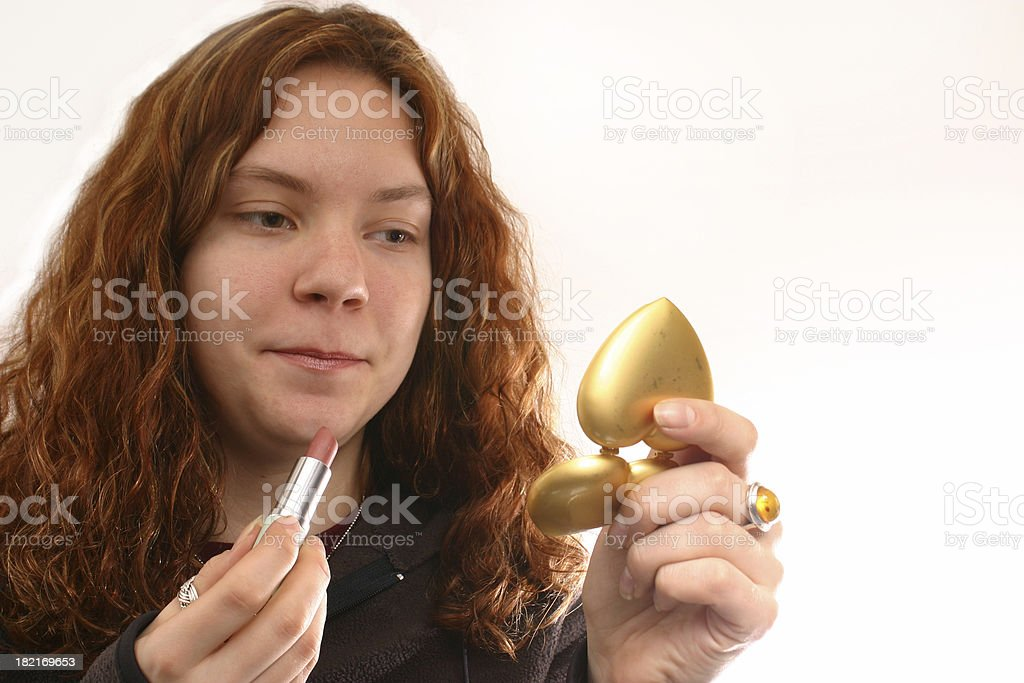 Primping royalty-free stock photo