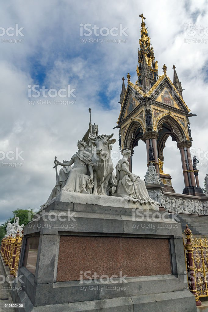 Prince Albert Memorial, London stock photo