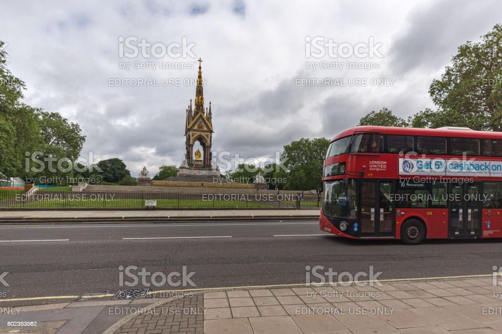 Prince Albert Memorial, London stock photo