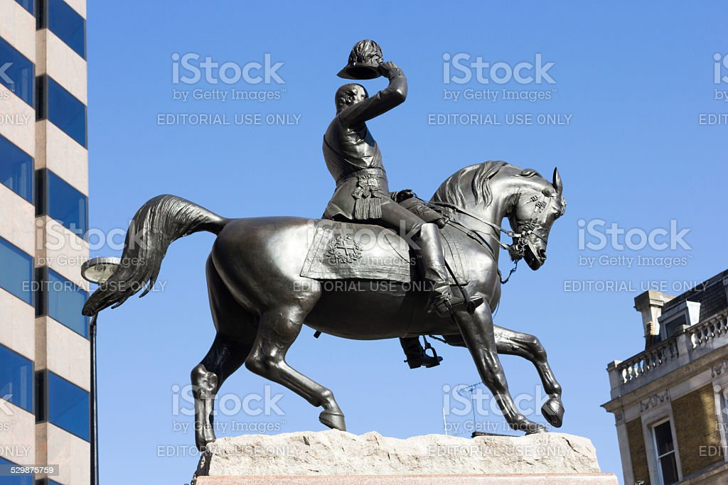 Prince Albert Statue in Holborn Circus, London stock photo