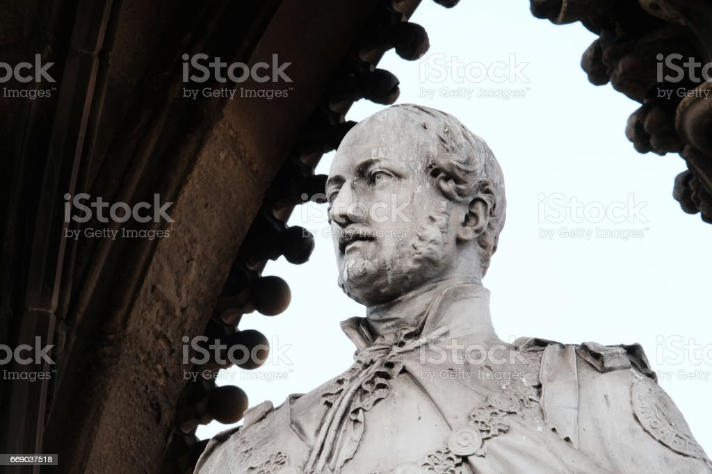Prince Albert Statue, Manchester stock photo