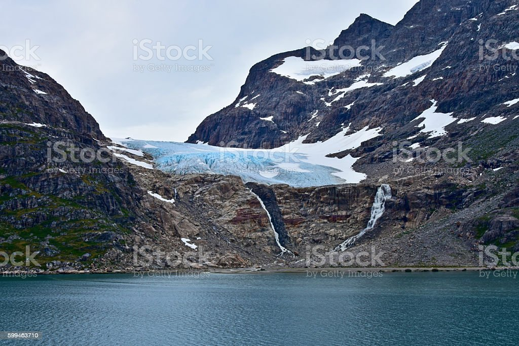 Prince Christian Sound Glacier stock photo