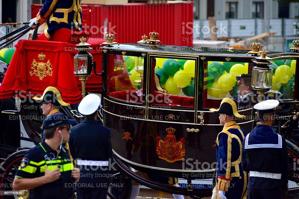Prince Constantijn waving stock photo