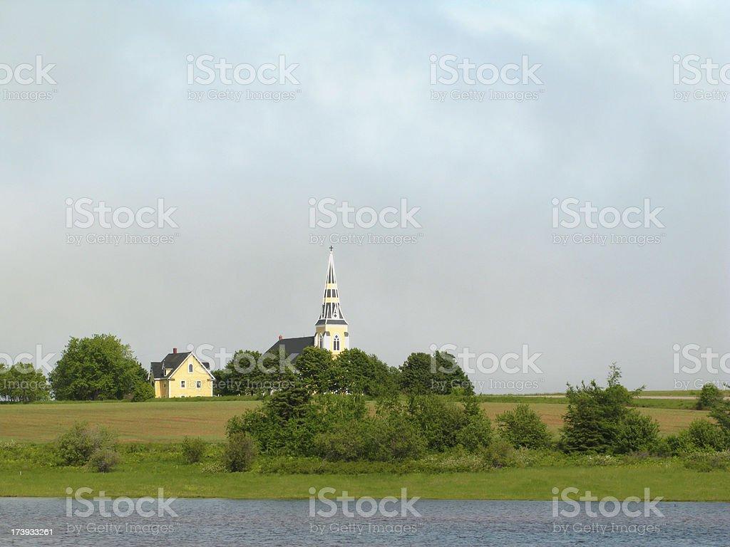 Prince Edward Island Church. stock photo