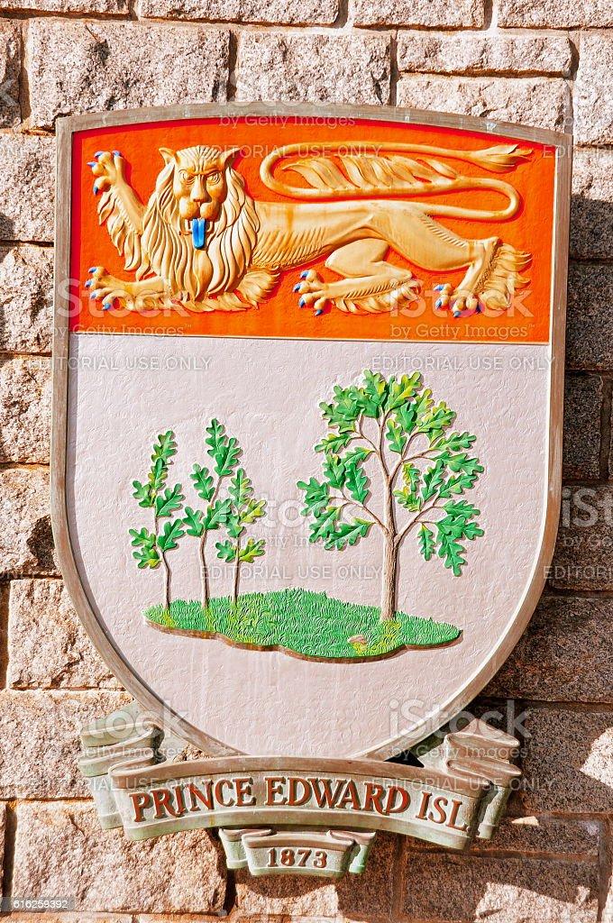 Prince Edward Island coat of arms. stock photo