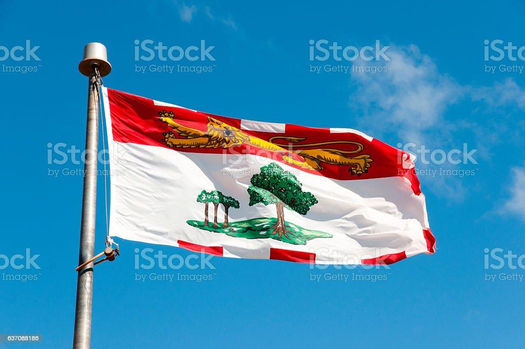 Prince Edward Island Flag - Canada stock photo